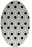 rug #1023890 | oval black retro rug