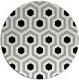 rug #1023898 | round black retro rug