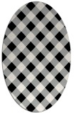 rug #1023930 | oval black geometry rug