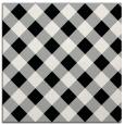 rug #1023946 | square black check rug