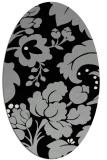 rug #1024053 | oval damask rug
