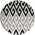 rug #1024078   round black retro rug