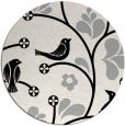 rug #1024158 | round black natural rug