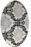 rug #1024410   oval black damask rug