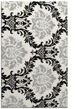 rug #1024414 |  black damask rug
