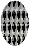 rug #1024550 | oval black retro rug