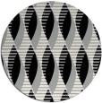 rug #1024558 | round black circles rug