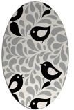 rug #1024570 | oval black natural rug