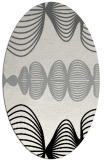 rug #1024610 | oval black circles rug