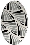 rug #1024690 | oval black retro rug