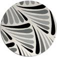 rug #1024698 | round black retro rug