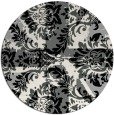 rug #1024818 | round black abstract rug