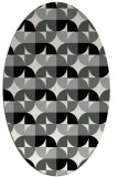 rug #1024930 | oval black circles rug