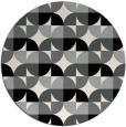 rug #1024938 | round black retro rug