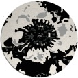 rug #1024958 | round black abstract rug