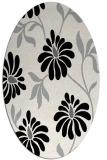 rug #1025050 | oval black natural rug