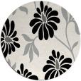 rug #1025058 | round black natural rug