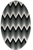 rug #1025250 | oval black stripes rug