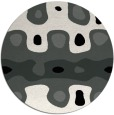rug #1025338 | round black abstract rug