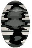 rug #1025350 | oval black graphic rug
