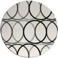 rug #1025418   round black circles rug