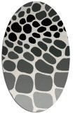 rug #1025510 | oval black rug