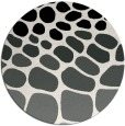 rug #1025518 | round black circles rug