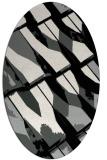 rug #1025630   oval black abstract rug