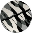 rug #1025638 | round black abstract rug