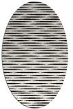 rug #1025770 | oval black natural rug
