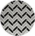 rug #1025798 | round black retro rug