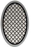 rug #1026250 | oval black borders rug