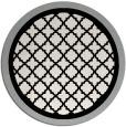 rug #1026258 | round black geometry rug