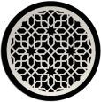 rug #1026298 | round black popular rug