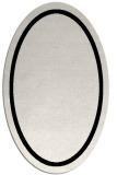 rug #1026370 | oval plain black rug