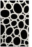 rug #1026514 |  black circles rug