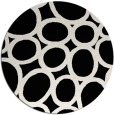 rug #1026518 | round black abstract rug
