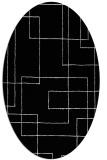 rug #1026530   oval black rug
