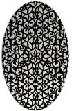rug #1026570 | oval black traditional rug