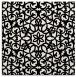 rug #1026586 | square black damask rug