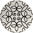 rug #1026598 | round black natural rug