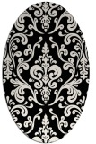 rug #1026650 | oval black traditional rug