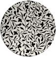 rug #1026898 | round black damask rug
