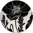 rug #1026958 | round black natural rug