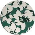 rug #102733 | round green rug