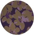 rug #102833 | round mid-brown rug