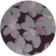 rug #102837   round purple natural rug