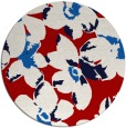 rug #102841 | round red natural rug