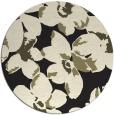 rug #102909 | round black natural rug