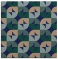 rug #103337 | square blue-green popular rug